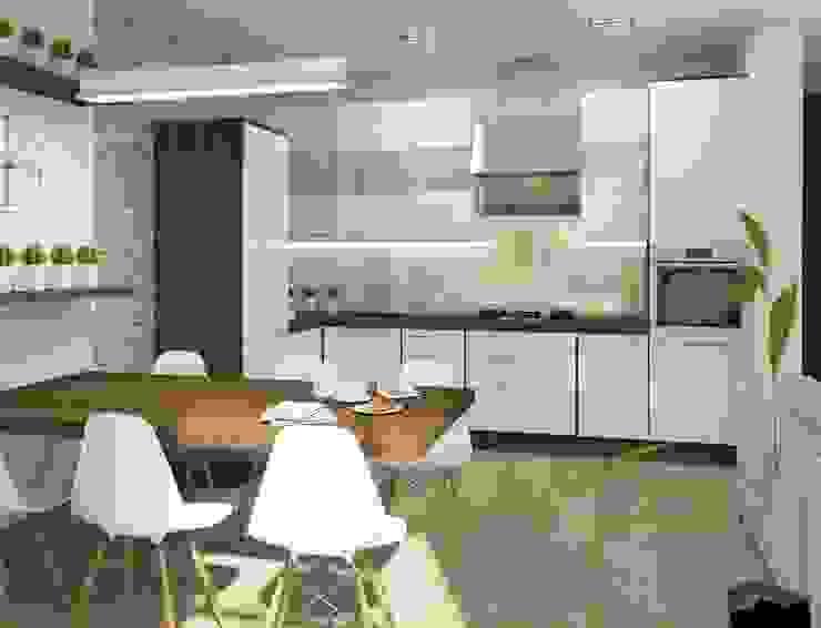 Кухня-столовая Кухня в стиле модерн от e.v.a.project architecture & design Модерн
