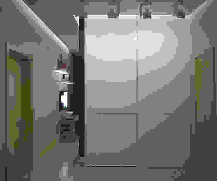 Квартира на Рахманинова Коридор, прихожая и лестница в стиле минимализм от Максим Любецкий Минимализм
