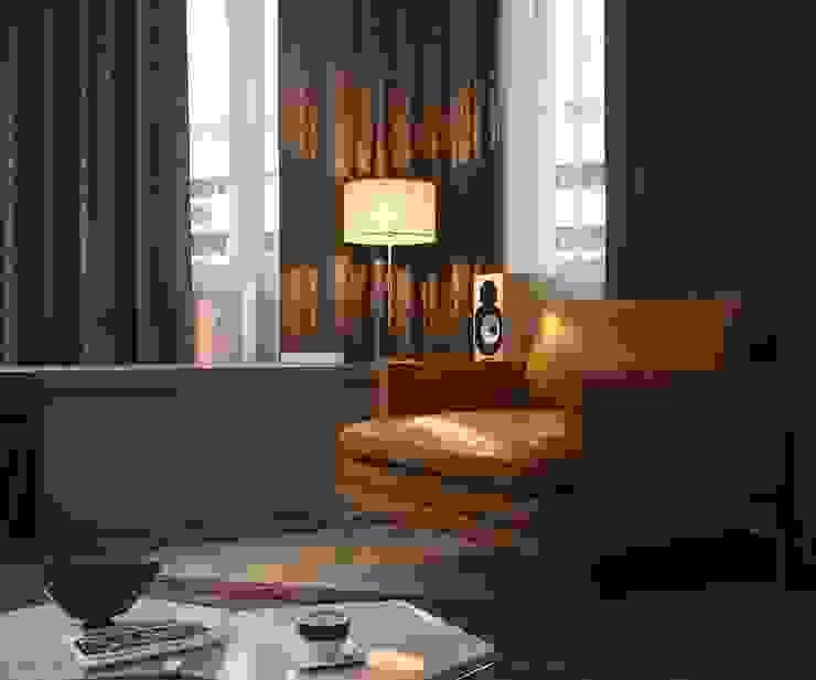 Квартира на Рахманинова Гостиная в стиле минимализм от Максим Любецкий Минимализм