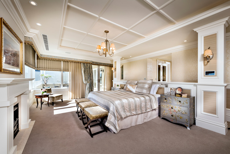 Walters Residence—Grand Design Classic style bedroom by JodIe Cooper Design Classic