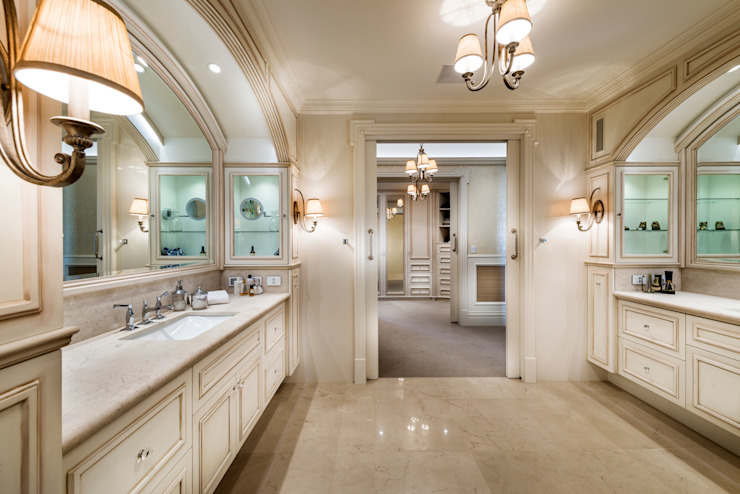 Walters Residence—Grand Design Classic style bathroom by JodIe Cooper Design Classic