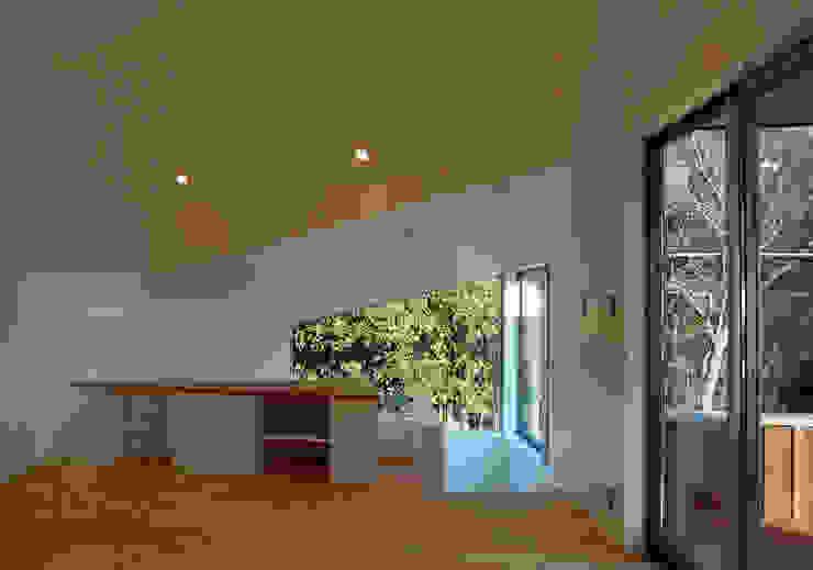 S教授の家_リビング オリジナルデザインの リビング の 佐賀高橋設計室/SAGA + TAKAHASHI architects studio オリジナル