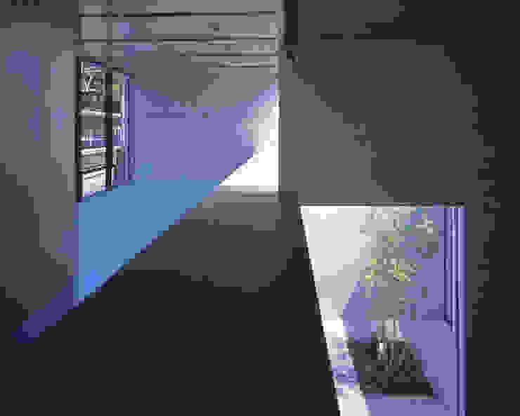 吹抜の階段から2階展示空間を見る ミニマルな商業空間 の atelier o ミニマル
