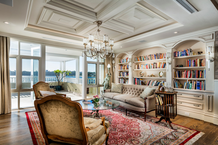 Walters Residence - Grand Design Classic style living room by JodIe Cooper Design Classic