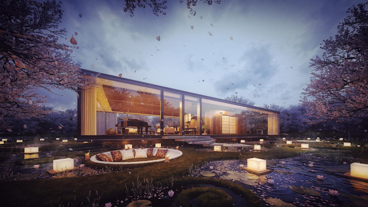Gardenian House Modern houses by Merêces Arch Viz Studio Modern
