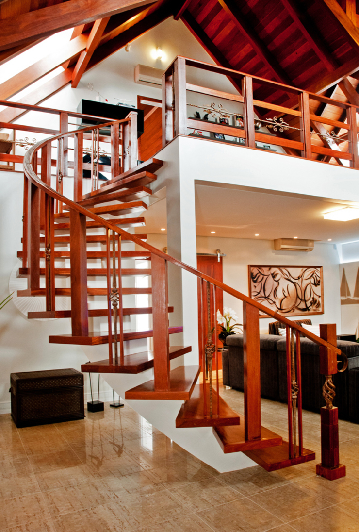 Rustic style corridor, hallway & stairs by ArchDesign STUDIO Rustic