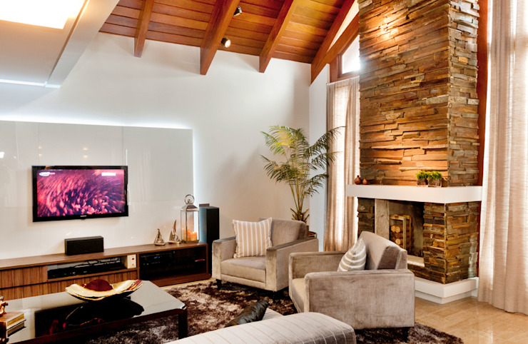 Rustic style living room by ArchDesign STUDIO Rustic