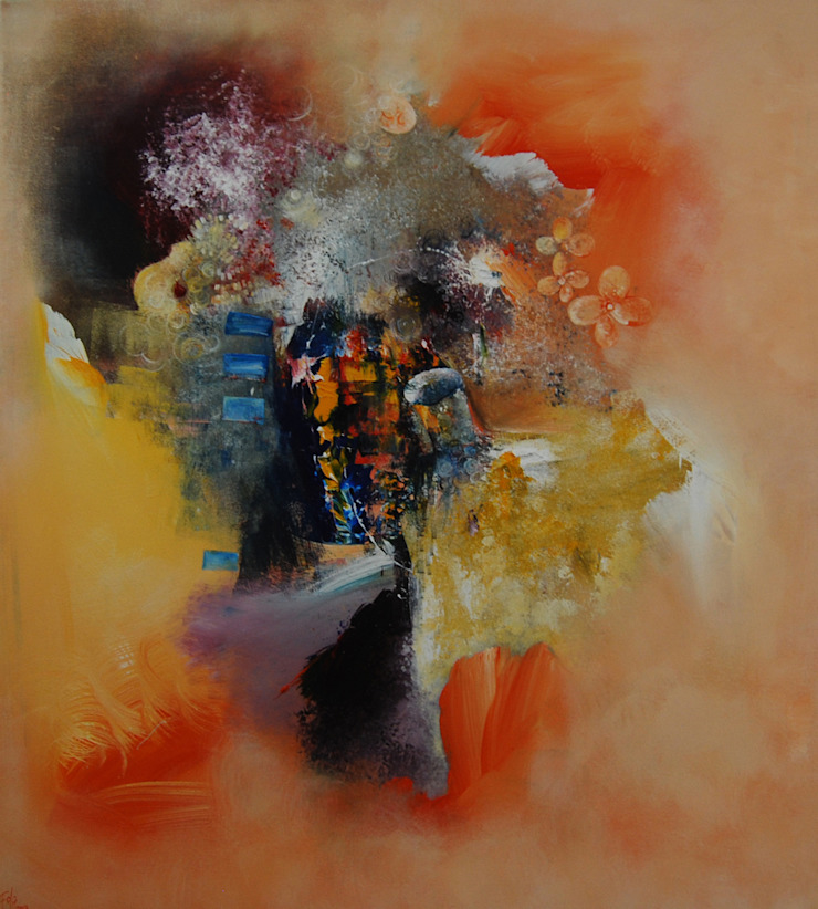 Lumiere dans le jardin by Fola Lawson: modern  by Mille Arts, Modern