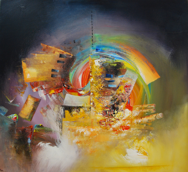Tourbillon D'Emeraude by Fola Lawson: modern  by Mille Arts, Modern