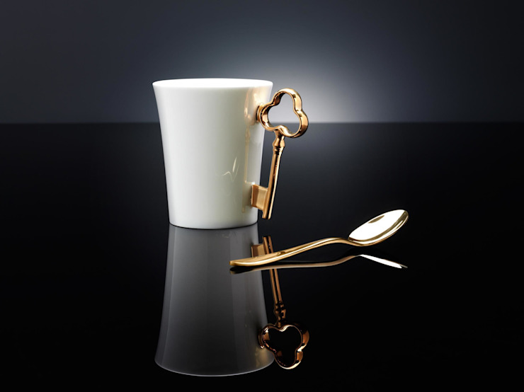 Gold Key Handle Mug Gary Birks Eklektik