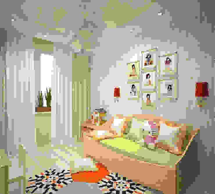 Детская для девочки Детская комнатa в скандинавском стиле от Студия дизайна Виктории Силаевой Скандинавский