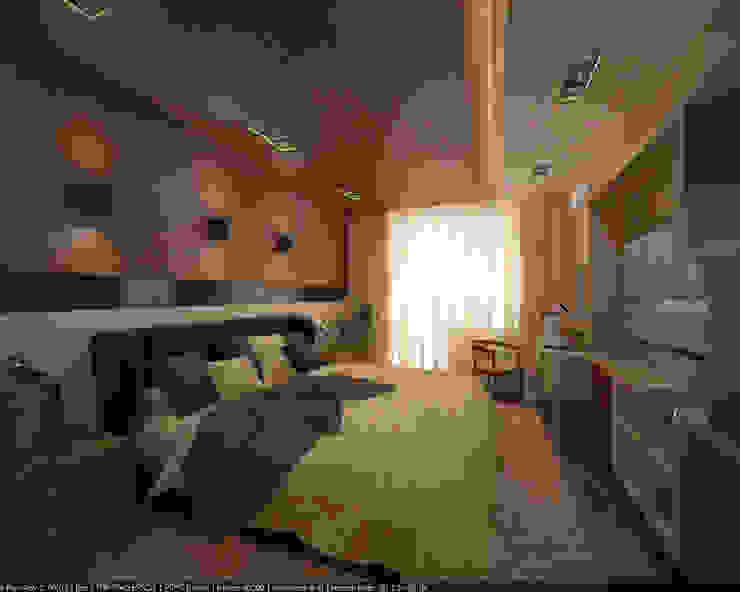 """Квартира 160 кв.м. в ЖК""""Эдем"""" Новосибирск Спальня в стиле лофт от Студия дизайна Виктории Силаевой Лофт"""