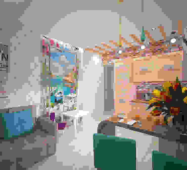 Кухня-гостиная Кухня в скандинавском стиле от Студия дизайна Виктории Силаевой Скандинавский