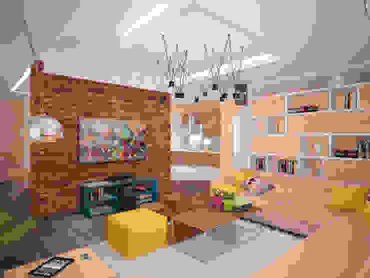 Квартира 160 кв.м. в ЖК<q>Эдем</q> Новосибирск Гостиная в стиле лофт от Студия дизайна Виктории Силаевой Лофт