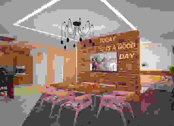 Квартира 160 кв.м. в ЖК<q>Эдем</q> Новосибирск Столовая комната в стиле лофт от Студия дизайна Виктории Силаевой Лофт