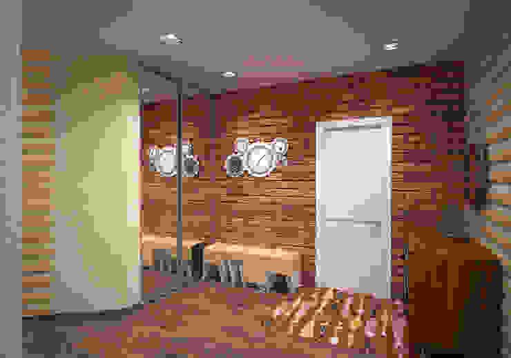 Квартира 160 кв.м. в ЖК<q>Эдем</q> Новосибирск Коридор, прихожая и лестница в стиле лофт от Студия дизайна Виктории Силаевой Лофт