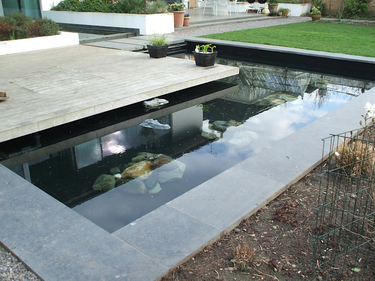 Reflection pond in Richmond Surrey Modern Bahçe Aquajoy water gardens ltd Modern