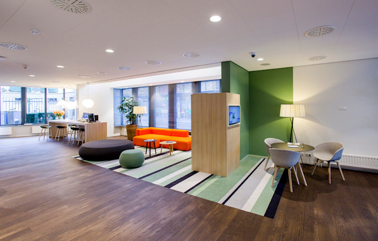 Bankhal Moderne kantoor- & winkelruimten van maria haag architectuur Modern