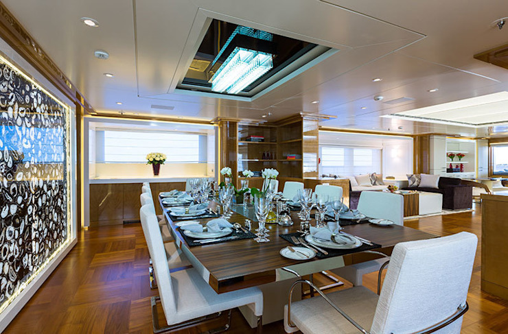 Black Agate used on The Galaxy Yacht Modern yachts & jets by ShellShock Designs Modern