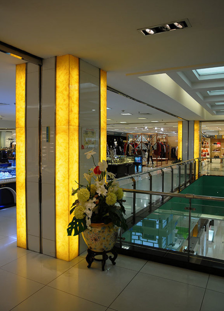 Back Lit Faux Alabaster Asian style shopping centres by ShellShock Designs Asian