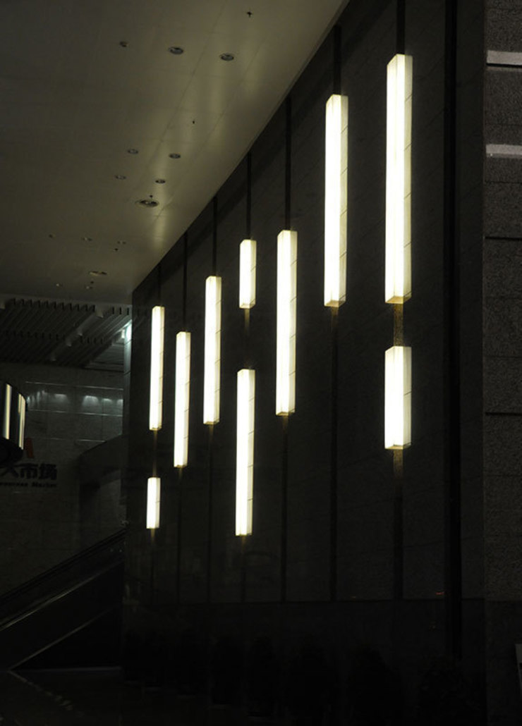 Back Lit Faux Alabaster Asian style commercial spaces by ShellShock Designs Asian