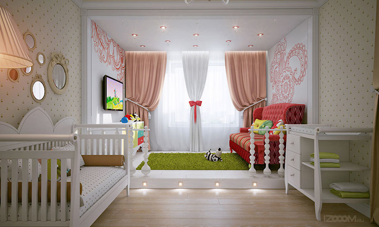 Country style nursery/kids room by izooom Country