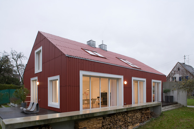 Ansicht Süd West Skandinavische Häuser von Bohn Architekten GbR Skandinavisch