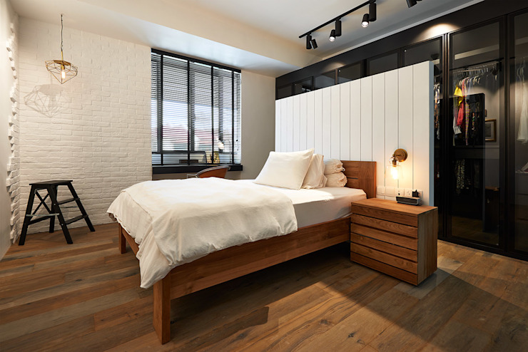 Scandustrial Theme Eightytwo Industrial style bedroom