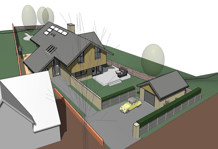 Revit Model of the proposed house: modern  by Pentangle Design, Modern