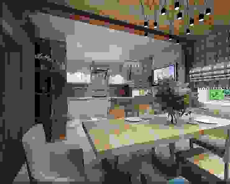 Частный дом в Ставрополе Столовая комната в средиземноморском стиле от Студия дизайна Натали Хованской Средиземноморский