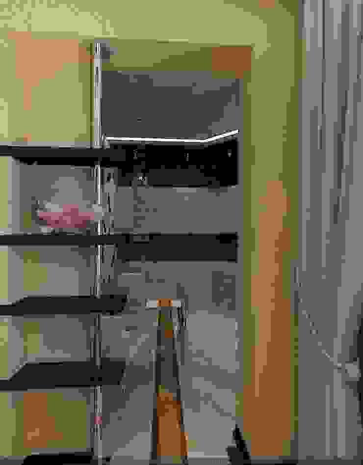 Квартира в Москве Гостиная в стиле минимализм от Студия дизайна Натали Хованской Минимализм