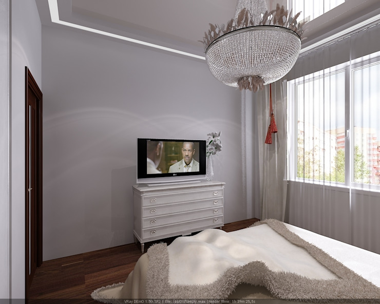 Eclectic style bedroom by Студия дизайна Натали Хованской Eclectic