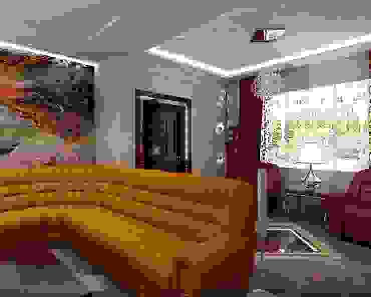 Частный дом Гостиные в эклектичном стиле от Студия дизайна Натали Хованской Эклектичный