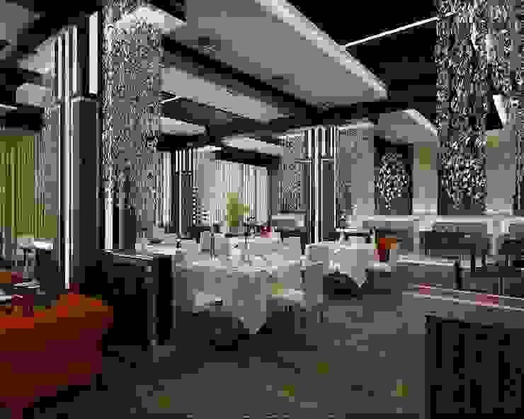 Ресторан Стены и пол в эклектичном стиле от Студия дизайна Натали Хованской Эклектичный