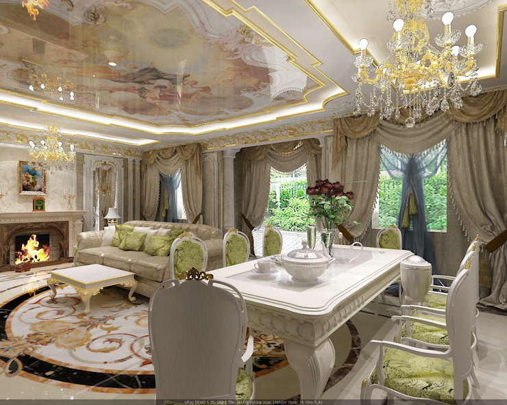 Гостиная Гостиная в классическом стиле от Студия дизайна Натали Хованской Классический
