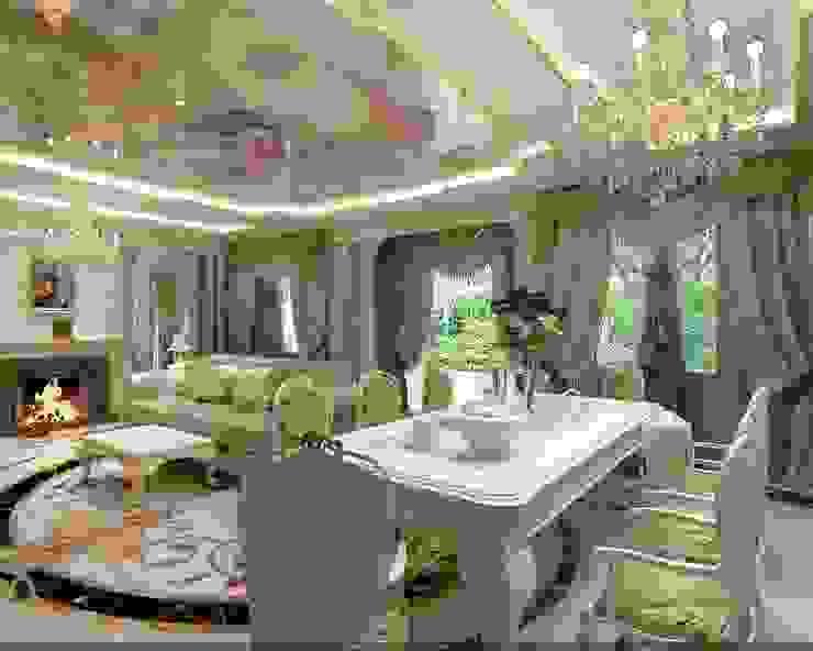 Ruang Keluarga Klasik Oleh Студия дизайна Натали Хованской Klasik