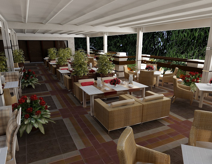 Mediterranean style balcony, veranda & terrace by Студия дизайна Натали Хованской Mediterranean