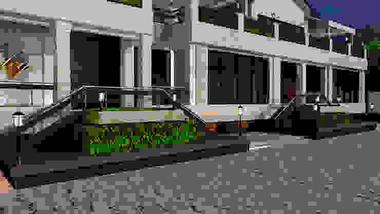 Фасад кафе Дома в эклектичном стиле от Студия дизайна Натали Хованской Эклектичный