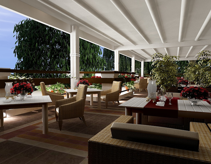Balcones y terrazas mediterráneos de Студия дизайна Натали Хованской Mediterráneo