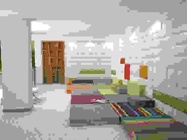 Пентхаус в стиле Лофт 2 Гостиная в стиле лофт от ELEGANZA Лофт