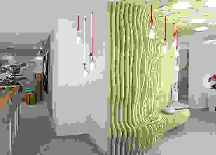 Пентхаус в стиле Лофт 2 Коридор, прихожая и лестница в стиле лофт от ELEGANZA Лофт