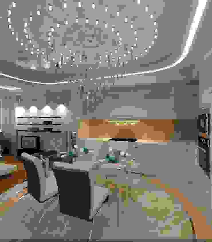 Квартира Столовая комната в эклектичном стиле от Студия дизайна Натали Хованской Эклектичный