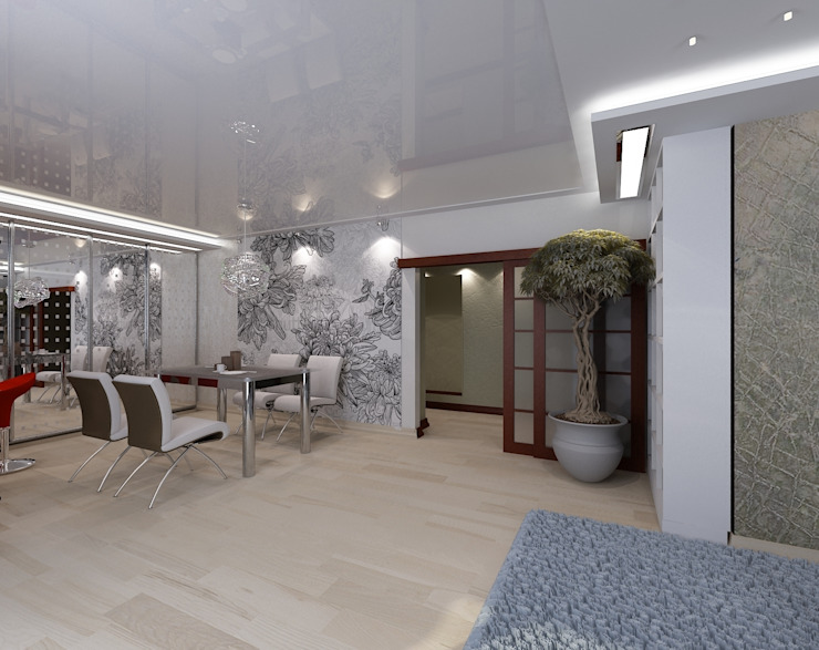 Гостиная Гостиная в стиле минимализм от Студия дизайна Натали Хованской Минимализм