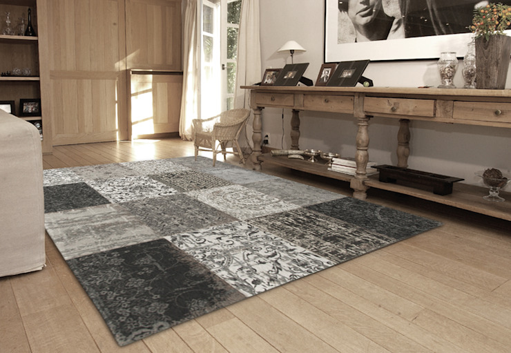Patchwork - Black and White 8101 - Interior: modern  door louis de poortere, Modern