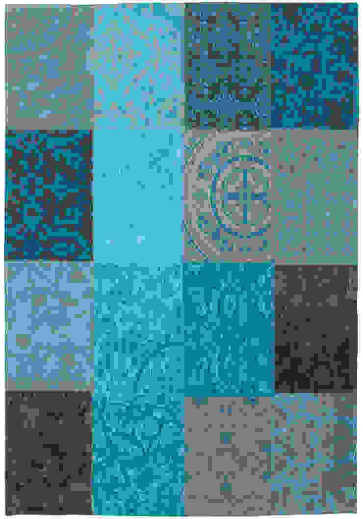 Patchwork - Turquoise 8105: modern  door louis de poortere, Modern