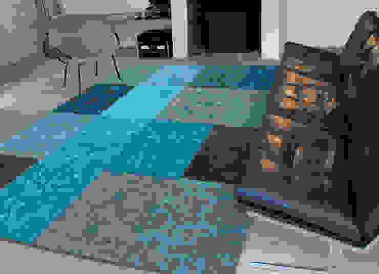 Patchwork - Turquoise 8105 - Interior: modern  door louis de poortere, Modern