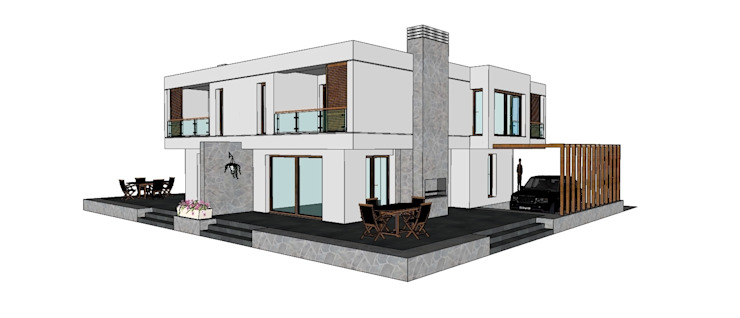 Maisons minimalistes par TARKAN OKTAY MİMARLIK Minimaliste