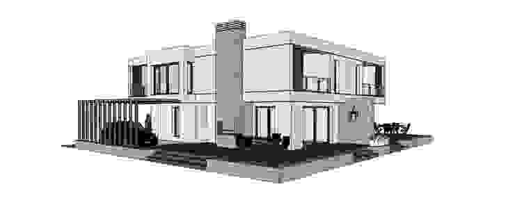 TARKAN OKTAY MİMARLIK Casas minimalistas