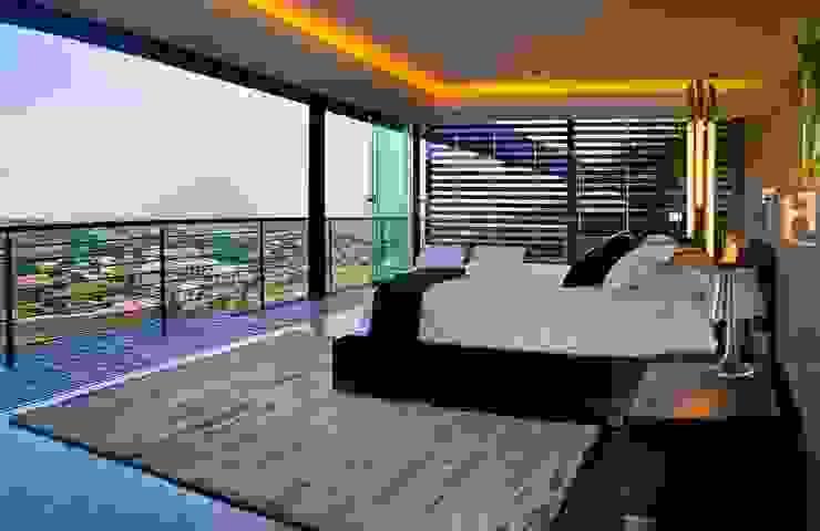 غرفة نوم تنفيذ Nico Van Der Meulen Architects , حداثي