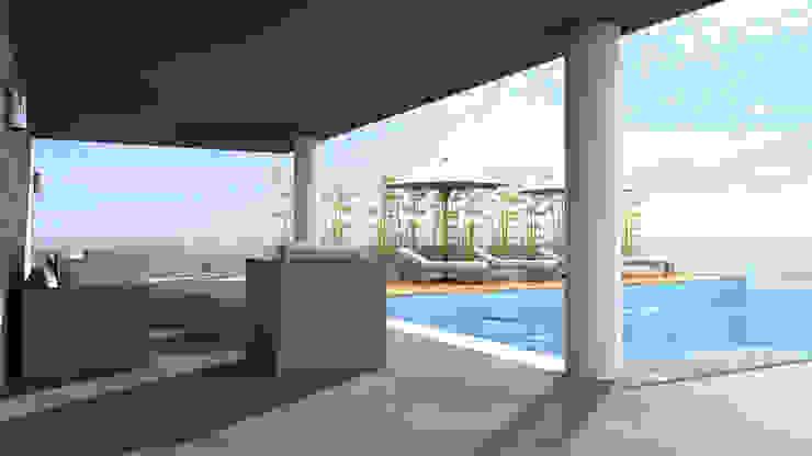 TARKAN OKTAY MİMARLIK Balcon, Veranda & Terrasse minimalistes